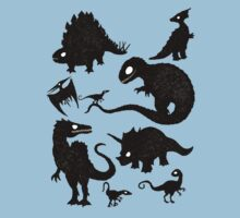 Silhouetted Dinosaurs Kids Tee