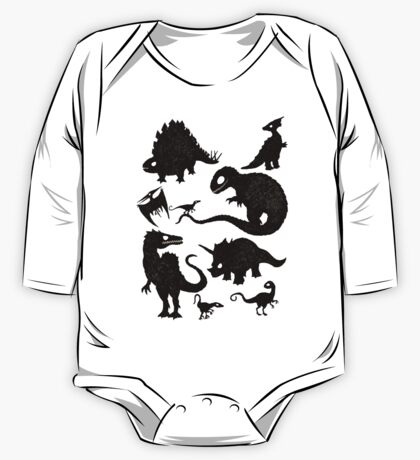Silhouetted Dinosaurs One Piece - Long Sleeve