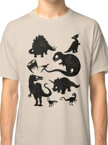 Silhouetted Dinosaurs Classic T-Shirt