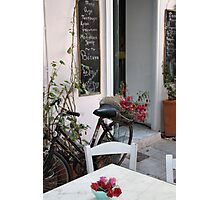 Cafe in Syros Photographic Print