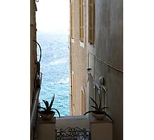 Ally in Syros...with a view Photographic Print