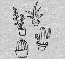 Succulents - Black & White One Piece - Short Sleeve