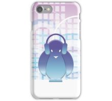 PENGUIN WITH HEADPHONE II iPhone Case/Skin