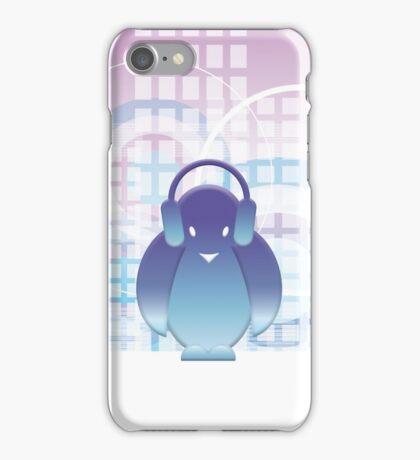 PENGUIN WITH HEADPHONE II iPhone Case/Skin