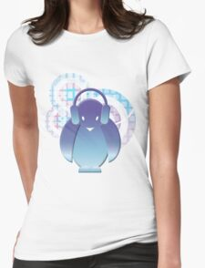 PENGUIN WITH HEADPHONE II Womens Fitted T-Shirt
