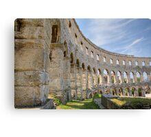 Colosseum in pula Canvas Print