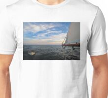 A Dingy Being Towed Unisex T-Shirt