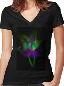 Purple and Teal makes me Squeal Women's Fitted V-Neck T-Shirt