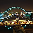 Bridges of the River Tyne, Newcastle. UK by David Lewins