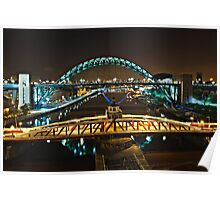 Bridges of the River Tyne, Newcastle. UK Poster