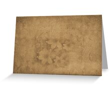 Vintage paper with flowers texture Greeting Card