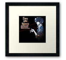 Spike Spiegel Space Cowboy Framed Print