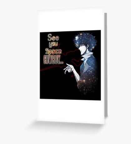 Spike Spiegel Space Cowboy Greeting Card
