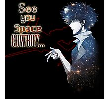 Spike Spiegel Space Cowboy Photographic Print