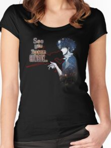 Spike Spiegel Space Cowboy Women's Fitted Scoop T-Shirt