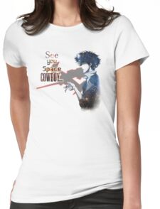 Spike Spiegel Space Cowboy Womens Fitted T-Shirt