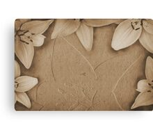 Vintage paper with flowers texture Canvas Print