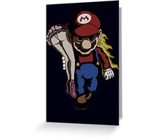 Mario Kidnap Greeting Card
