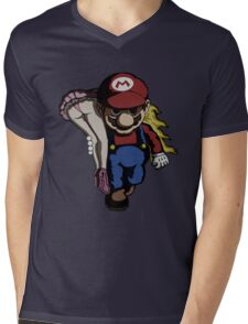 Mario Kidnap Mens V-Neck T-Shirt