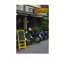 Bar at Chiang Mai Art Print