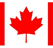 CANADA, CANADIAN, Canadian Flag, Canada Flag, Pure & Simple, National Flag of Canada, 'A Mari Usque Ad Mare' by TOM HILL - Designer