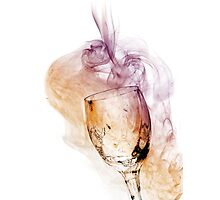 A Glass of Smoke Photographic Print