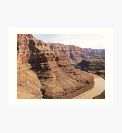 Helicopter view of Grand Canyon Art Print