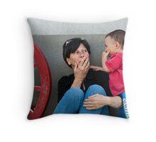 Sharing a joke Throw Pillow