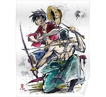 Luffy and Zoro from One Piece Poster