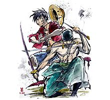 Luffy and Zoro from One Piece Photographic Print
