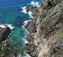 Cliff at Bennett's Head, Forster, NSW by aussiebushstick