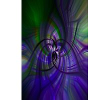 Purple and Green Photographic Print