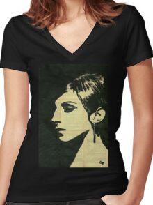 Barbra Streisand. Women's Fitted V-Neck T-Shirt