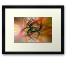 Peach and Green  Framed Print