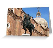 Statue of Bartolomeo Colleoni, Venice Greeting Card