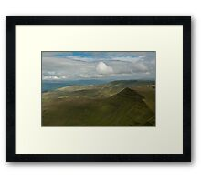 nr Libanus Brecon Beacons Wales UK. View from Pen y Fan, the highest peak in the Southern United Kingdom, looking eastwards towards Cribyn. Framed Print
