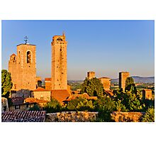 Postcard from San Gimignano Photographic Print