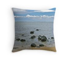 Murphy's Beach, Molokai Throw Pillow