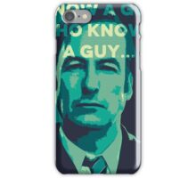 Saul Goodman - I Know a guy. iPhone Case/Skin