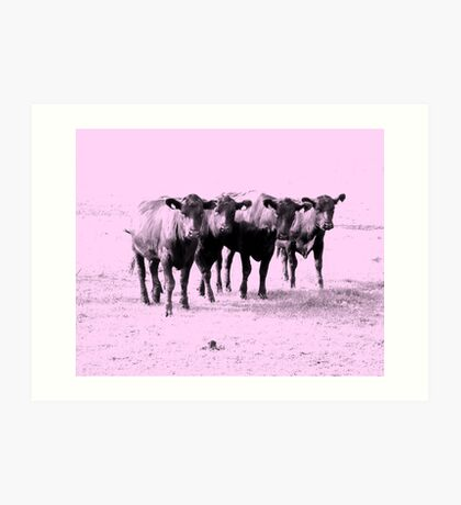 Four Ladies in Pink Art Print