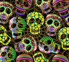 Sugar Skulls Pattern by BluedarkArt