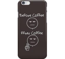 Before & After Coffee iPhone Case/Skin