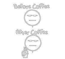 Before & After Coffee Photographic Print