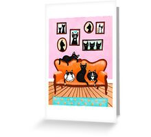 The Cats Pink Room Greeting Card