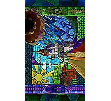 Beauty and the Beast-- stained glass castle (sideways) Photographic Print