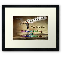 Banner Challenge - The Best of Anything and Everything Framed Print
