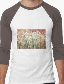 White Men's Baseball ¾ T-Shirt