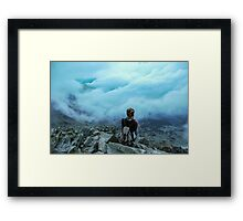 Above the sea of clouds Framed Print
