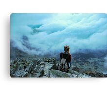 Above the sea of clouds Canvas Print