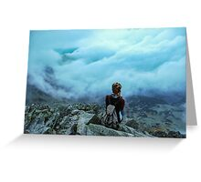 Above the sea of clouds Greeting Card